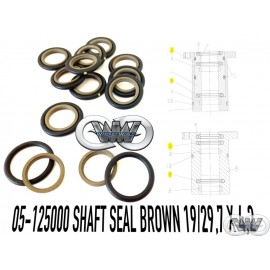 05-12500 SHAFT SEAL BROWN FOR UHDE