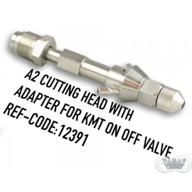 A2 CUTTING HEAD WITH ADAPTER FOR KMT PNEUMATIC VALVE