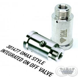 INTEGRATED ON OFF VALVE BODY OMAX STYLE